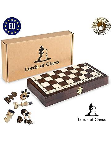 Amazinggirl Ajedrez para niños de Madera - Juegos de ajedrez Grande Tablero de (35 x