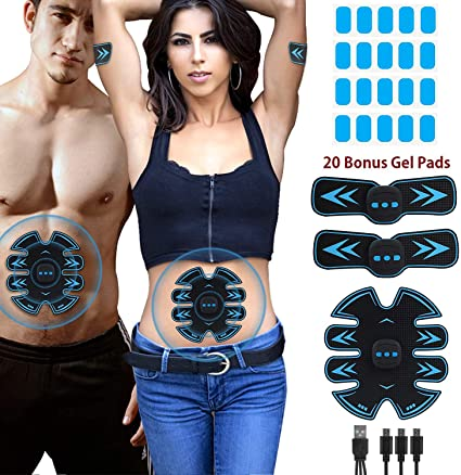 Smart EMS Fitness Belt ABS Muscle Toning Belt Simulator Kit Machine Abdominal