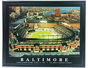 Framed Baltimore Orioles Camden Yards Print Wall Art