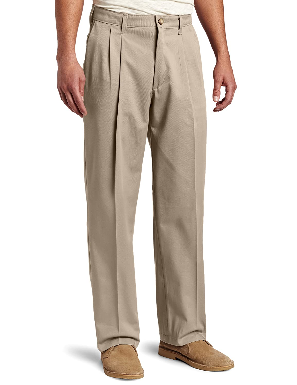 Lee Mens Big-Tall Big-Tall Comfort-Waist Custom-fit Pleated Pant Lee Men' s 43034