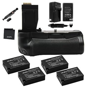 Amazon.com: Empuñadura de batería Bundle F/Canon Rebel T6i ...