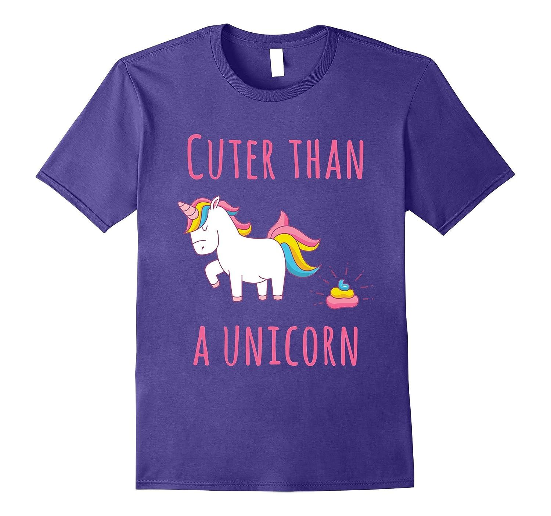 Cuter Than A Unicorn Shirt, Rainbow T Shirt, Unicorns Shirt-BN
