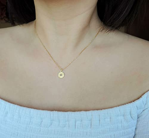 Tiny coin gold necklace