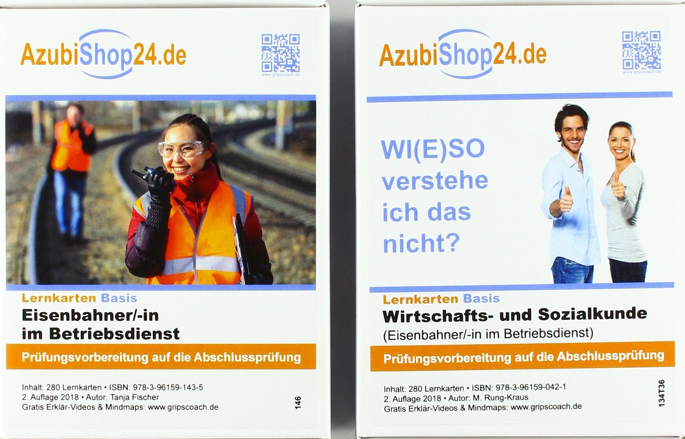 AzubiShop24.de Kombi-Paket Lernkarten Eisenbahner-/in im Betriebsdienst: Erfolgreiche Prüfungsvorbereitung auf die Abschlussprüfung Taschenbuch – 15. Mai 2018 Michaela Rung-Kraus Tanja Fischer Princoso 3961592470