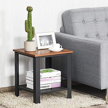 Magnificent Amazon Com Elegant Industrial Design 2 Tier End Table Side Beatyapartments Chair Design Images Beatyapartmentscom