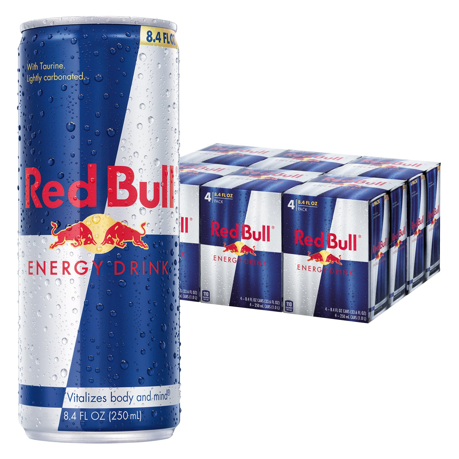 red bull energy drink 8 4 fl oz cans 6 packs of 4 total. Black Bedroom Furniture Sets. Home Design Ideas