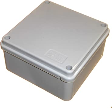 1 caja de conexiones eléctrica cuadrada IP56 de 100 mm, resistente ...