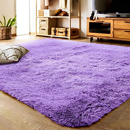Amazon.com: LOCHAS Ultra Soft Indoor Modern Area Rugs Fluffy Living Room Carpets Suitable for Children Bedroom Home Decor Nursery Rugs 4 Feet by 5.3 Feet ...
