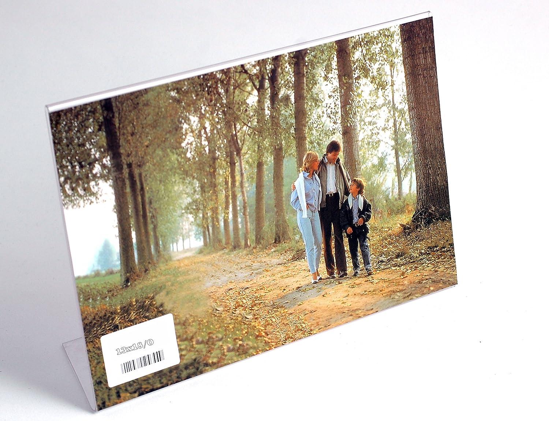Amazon.de: Bilderrahmen Tisch aus Plexiglas transparent und leicht ...