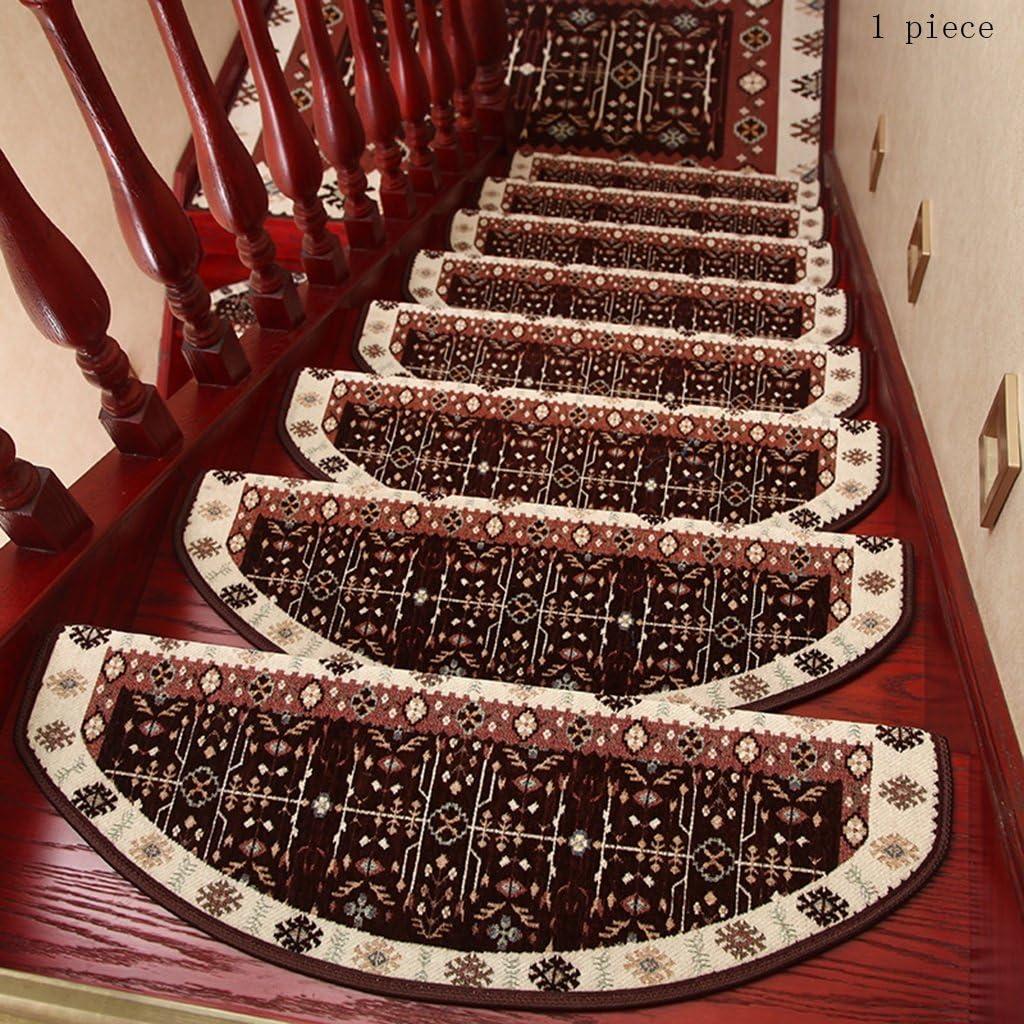 Pegamento Gratis Autoadhesivo Mezclado Almohadilla de la Escalera Step Mat Escaleras de Caracol de Madera Maciza Antideslizantes para el hogar (Color : 13, Tamaño : 24 * 100cm): Amazon.es: Hogar