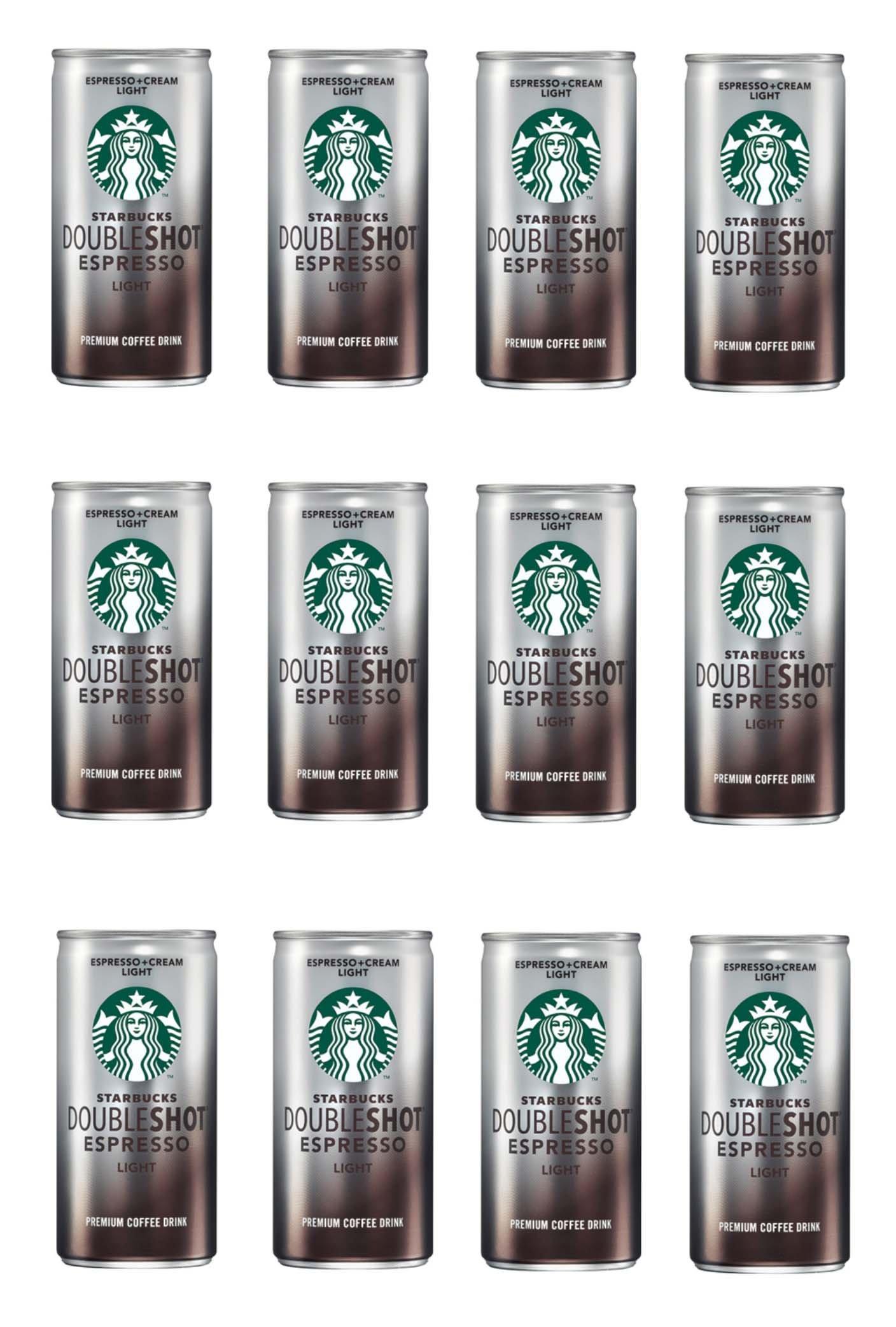 Starbucks Doubleshot Light, Espresso & Cream 6.5 oz x 12 Cans