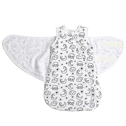 MKW Babies - Saco de Dormir para bebé, 100% algodón y Espesor DE 2