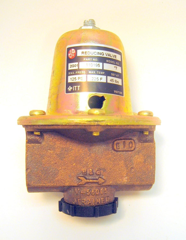 ITT Bell & Gossett 7VALVE (110195) REDUCING VALVE 45PSI.