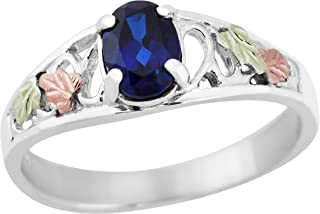product image for Black Hills Gold on Silver Created Sapphire Ring