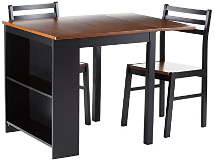 Persia 3 Piece Breakfast Dining Set Brown And Black