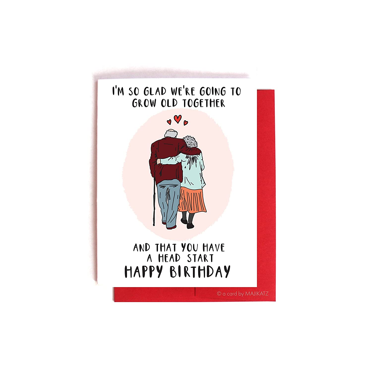 Growing Old Together -- Funny Birthday Card For Boyfriend / Girlfriend
