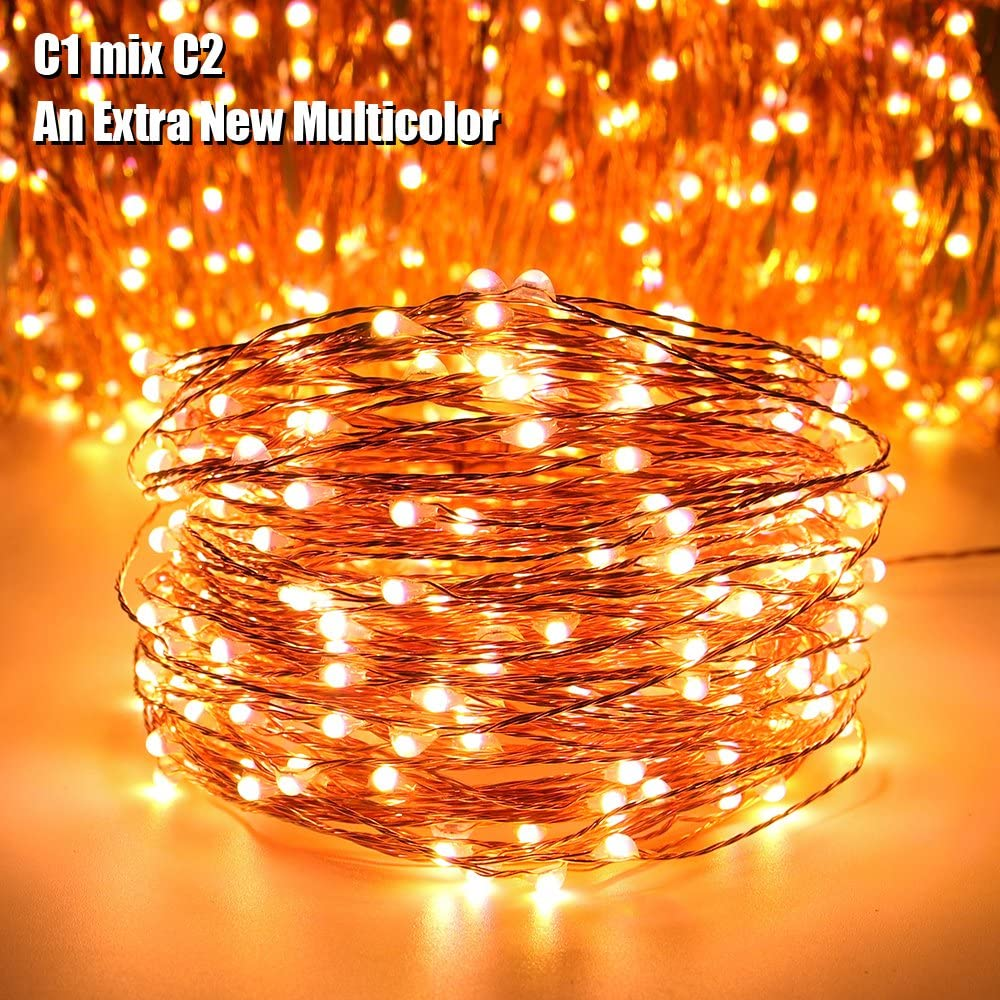 LED Fairy MICRO LIGHTS Wire 200 Color Changing White Multi Battery Remote Timer