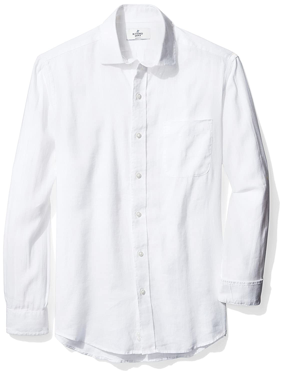 Brand BUTTONED DOWN Mens Classic Fit Casual Linen Cotton Shirt