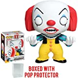 Funko Pop! Movies: Stephen King's It - Pennywise Clown Vinyl Figure (Bundled with Pop BOX PROTECTOR CASE)