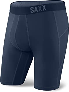 Saxx Underwear Men's Thermoflyte Performance Long Leg Boxer Fly with Ballpark Pouch SXLL57F