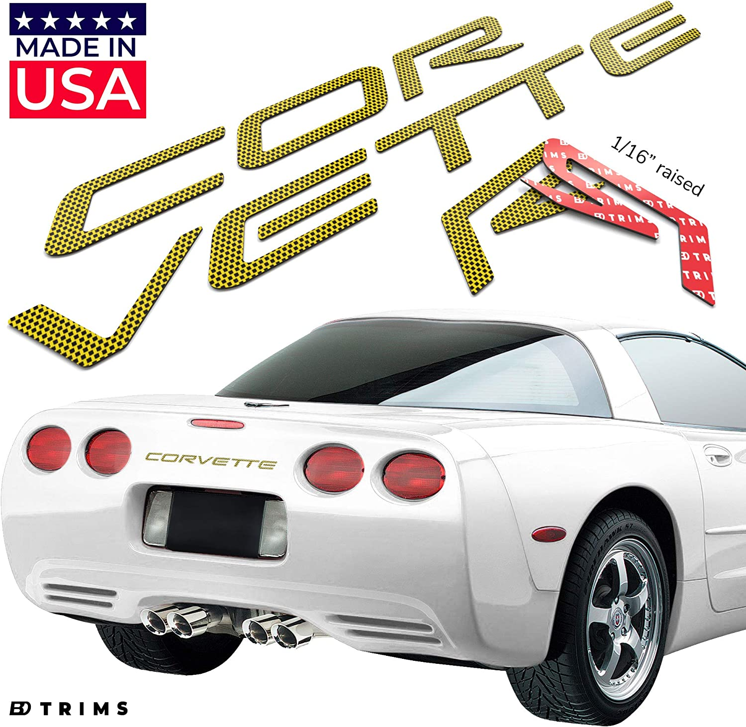 c5 chrome corvette lettering kit rear c4 also available