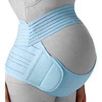 Belly Band for Pregnancy, Pregnancy Belt - Maternity Belt for Back Pain. Prenatal - Pregnancy Support Belt with Adjustable/Breathable Material. Back Support for Pregnant Women. Baby Blue Color/Size S