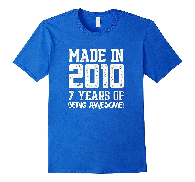 7th Birthday Shirt Gift Age 7 Year Old Boy Girl Tshirt Tee Art