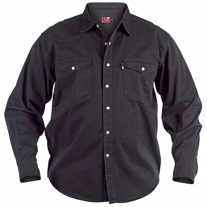 a55400afa2 Duke - Camisa Vaquera Modelo Western en Tallas Grandes para Hombre   Amazon.es  Ropa y accesorios