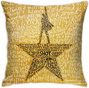 Ha-mi-lton The Musical Quotes Throw Pillow Covers Decorative Pillows Cushion Pillowcase For Sofa Couch Bedroom Home Decor 18 X 18 Inch