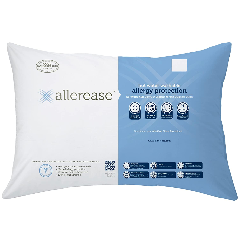 Amazon Aller Ease Hot Water Washable Allergy Pillow Queen