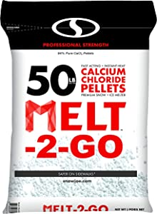 Snow Joe AZ-50-CCP Melt-2-Go 94% Pure Calcium Chloride Pellet Ice Melter, 50-lb Resealable Bag