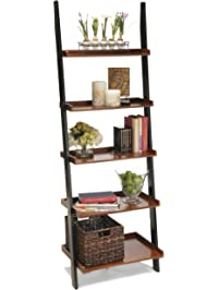 Convenience Concepts French Country Bookshelf Ladder, Black And Cherry Part 93
