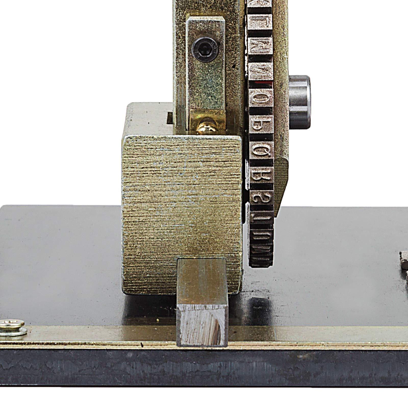 VEVOR Sheet Embosser Manual Deboss Metal Embosser Machine Dog Tag Specific Model Date Serial Number Stamping Embossing Marking Machine with 4MM Print Wheel by VEVOR (Image #8)