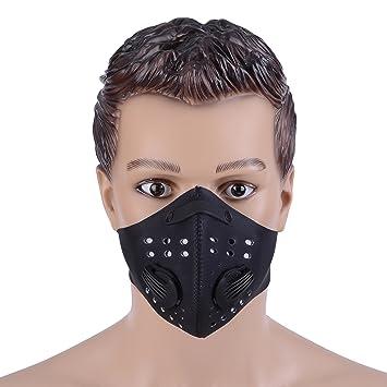 Máscara antipolvo Zukam, máscara anticontaminación, filtra el gas de escape y el carbono, antialergia al polen, PM 2,5, máscara con correa ajustable para ...