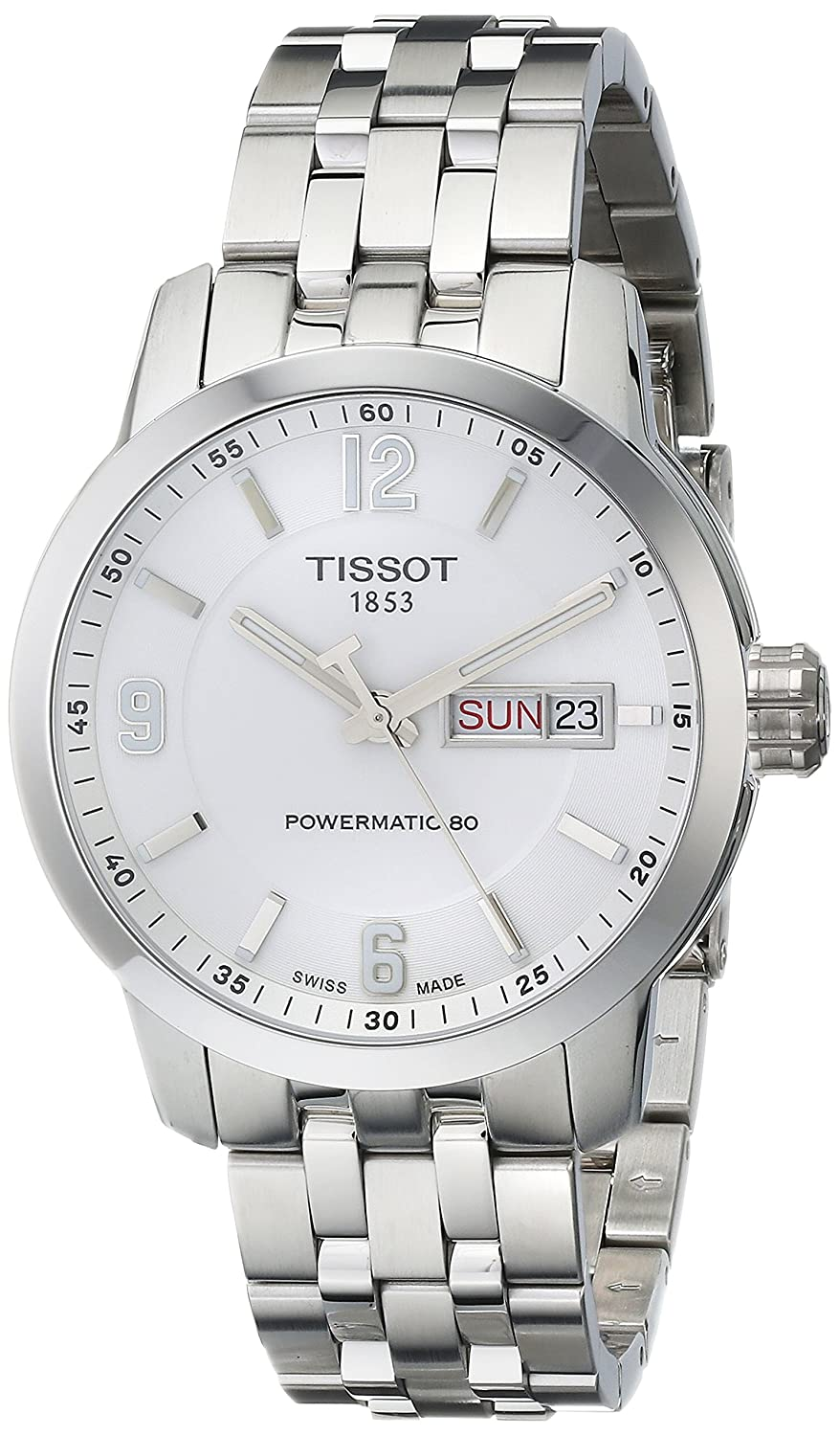 Tissot Mens T0554301101700 Prc 200 Stainless Steel T0554301105700 Black Watch Watches