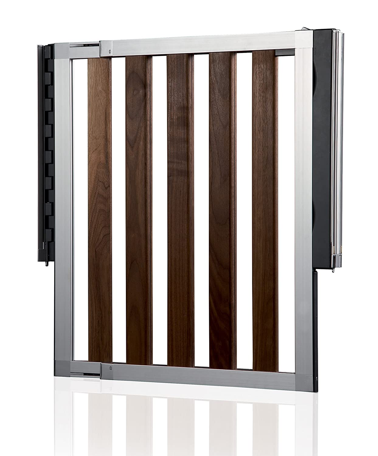 modern baby gate img  img  modern baby gate - numi extending dark wood safety gate amazoncouk baby
