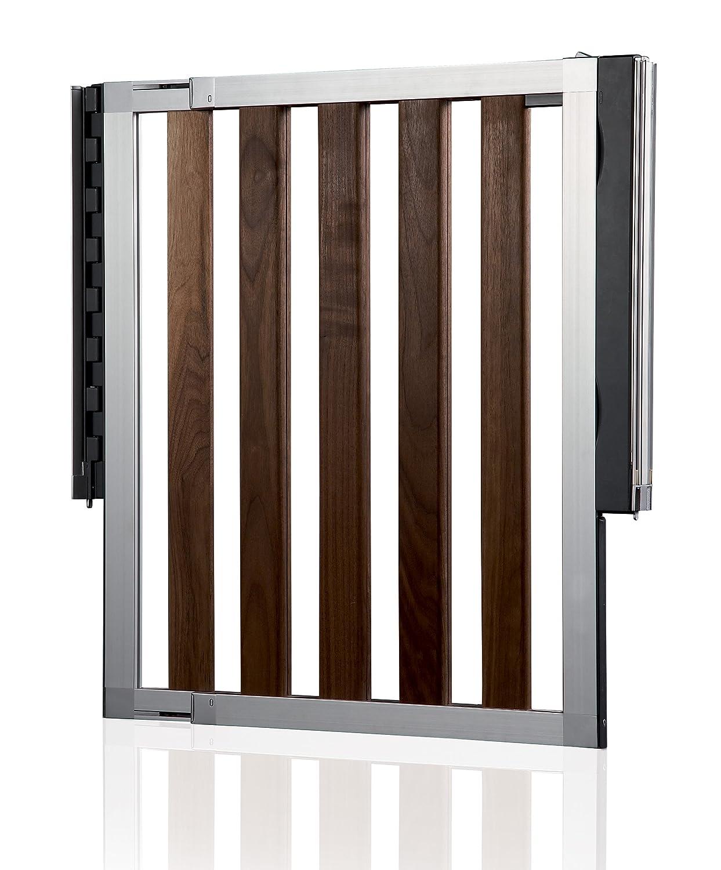 numi extending dark wood safety gate amazoncouk baby -