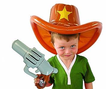 AIRHEDZ Kids Airhedz - sombrero de vaquero + pistola hinchables ...
