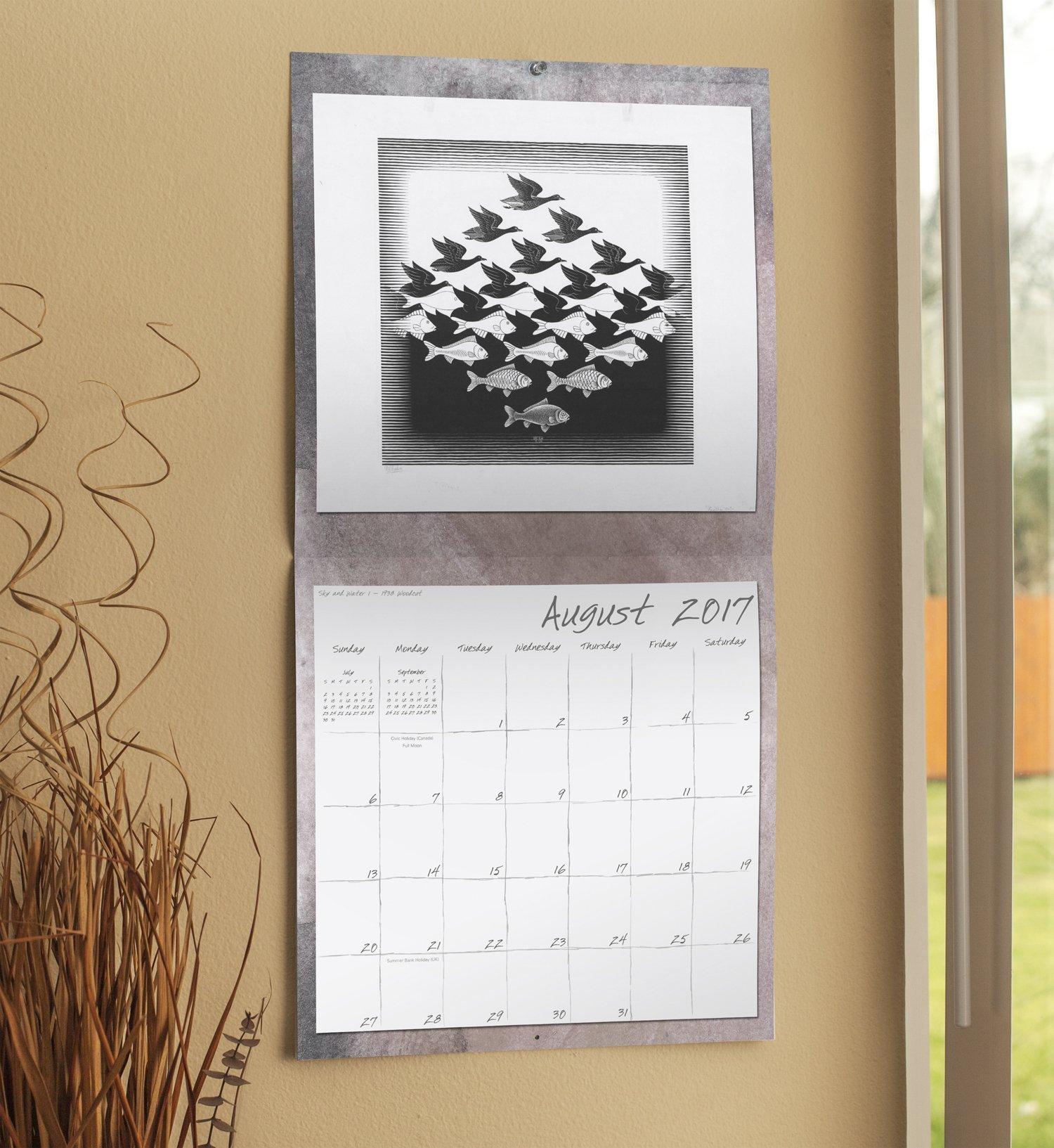 M.C. Escher Wall Calendar (2017): Day Dream: 0038576299573: Amazon ...