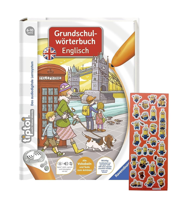 Amazon.es: Ravensburger tiptoi® Inglés de libros - Primaria Diccionario Inglés + Minions de pegatinas