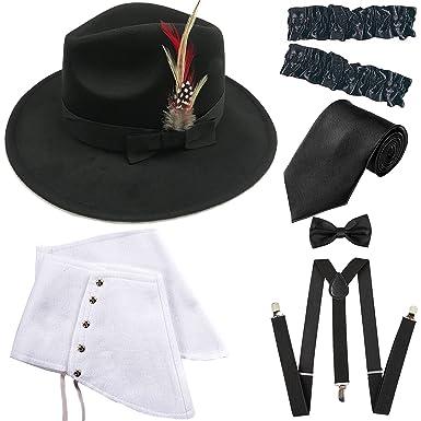 1920s Trilby Manhattan Gangster Fedora Hat 9059b418d7e1