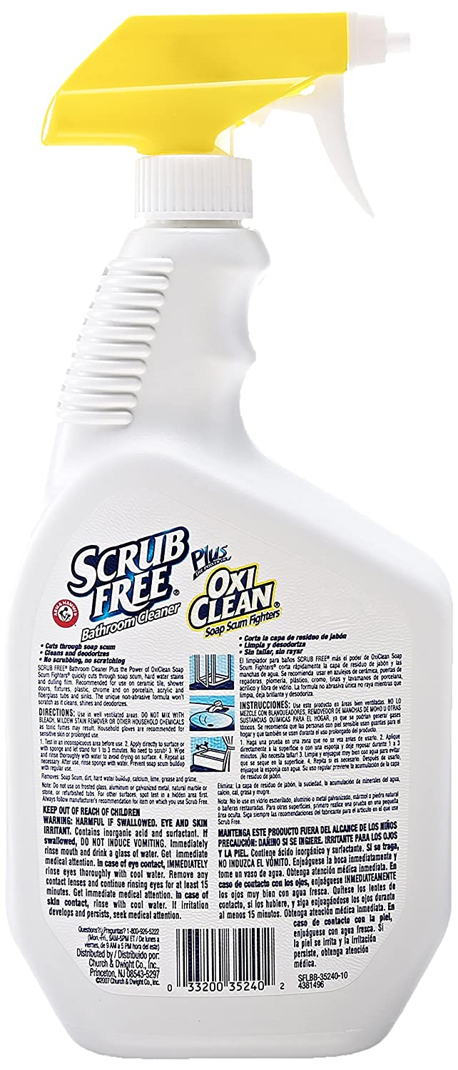 Great Amazon.com : Scrub Free Bathroom Cleaner With Oxi Clean, Lemon Scent, 32 Oz  : Grocery U0026 Gourmet Food