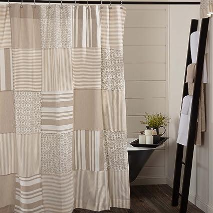 Amazon Piper Classics Wheat Field Patchwork Shower Curtain