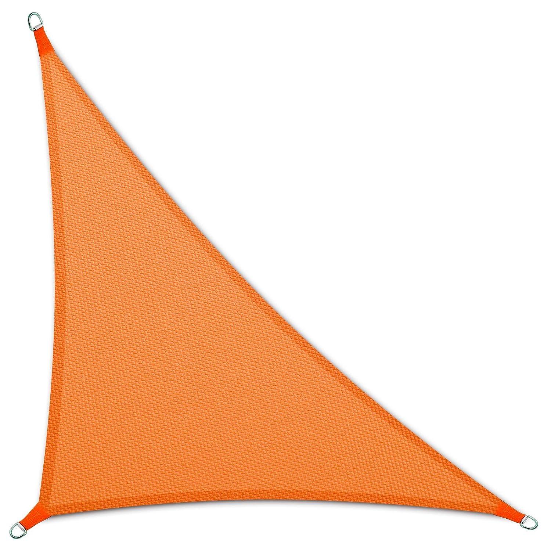 casa pura Tenda a Vela Triangolare   Impermeabile   da Esterno   5x5x7 m   Arancione