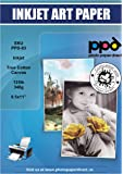 PPD Inkjet Canvas 100% Real Printable Cotton LTR 8.5 x 11 125lbs. 340gsm 17mil x 10 Sheets (PPD083-10)