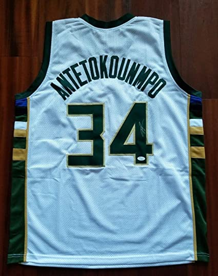 7dd983a166b Image Unavailable. Image not available for. Color  Giannis Antetokounmpo  Autographed Signed Jersey Milwaukee Bucks Memorabilia JSA