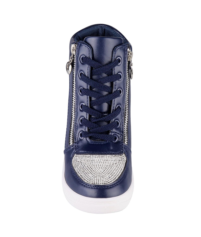KRISP, sneaker da donna a collo alto, eleganti e alla moda, Blu (Navy (5800)), 39