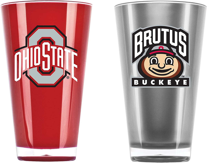 NCAA Ohio State Buckeyes 20oz Insulated Acrylic Tumbler Set of 2