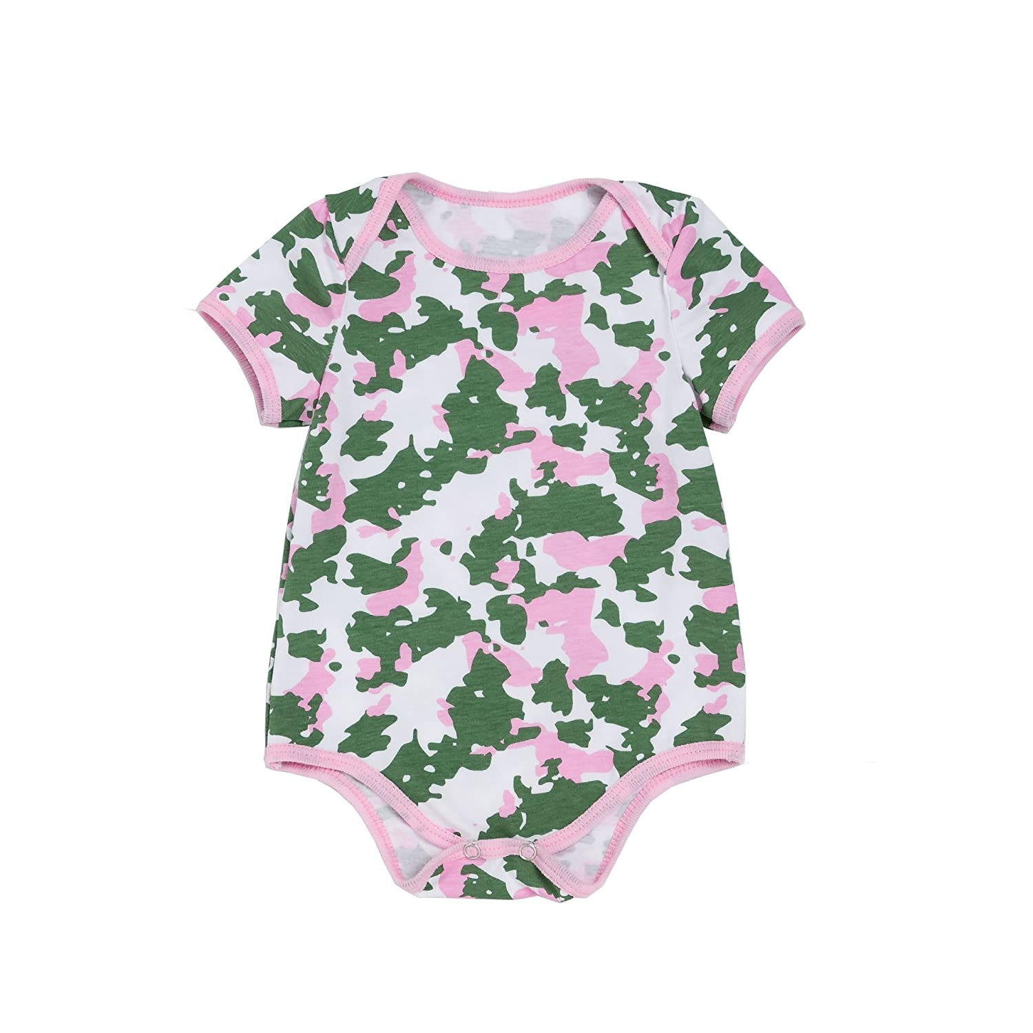 Fairy Baby Girls Boys Vest Camouflage Romper Summer Outfits Short Sleeves
