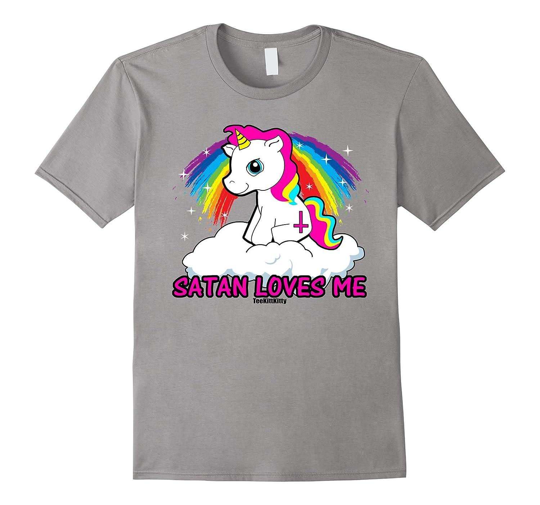 33aef5c9 Satan Loves Me Shirt Funny Satanic Shirts Offensive Tshirts-TH - TEEHELEN